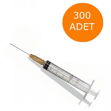 Turuncu İğneli Aşı Enjektörü 2CC 3P - 300 Adet
